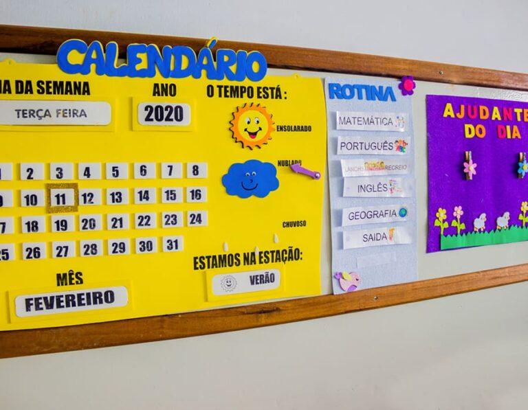 calendário escola cristã
